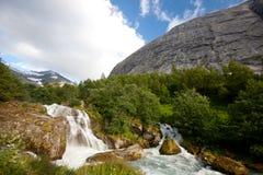 Norwegian waterfall Stock Photos