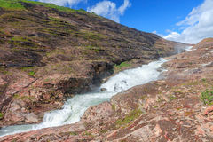 Norwegian waterfall Royalty Free Stock Photography