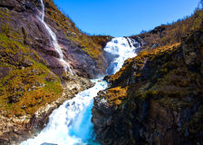 Norwegian waterfall Stock Images