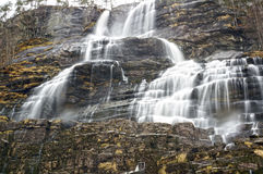 Norwegian waterfall in spring. May 05, 2013 Royalty Free Stock Images