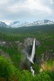 Norwegian waterfall Vettisfossen – beauty of Norway nature Stock Photos