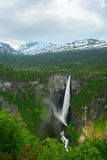 Norwegian waterfall Vettisfossen – beauty of Norway nature Stock Photos
