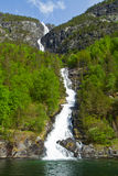 Norwegian Waterfalls Royalty Free Stock Photo