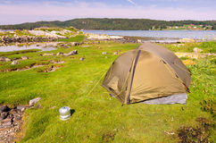 Norwegian wild camping Stock Photography