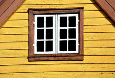 Norwegian window. View of a typical Norwegian window in Oslo Stock Photography