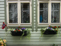 Norwegian window Royalty Free Stock Photos