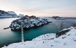 Norwegian winter panorama. Royalty Free Stock Image