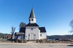 Norwegian wooden church Royalty Free Stock Photos