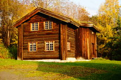 Norwegian wooden farm house Stock Photos