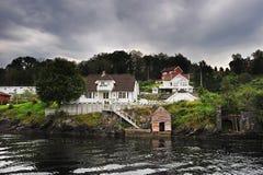 Norwegian wooden house Stock Photo