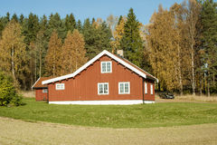 Norwegian Wooden House Stock Photos