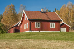 Norwegian Wooden House in Royalty Free Stock Photography