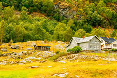 Norwegian Wooden House Stock Image