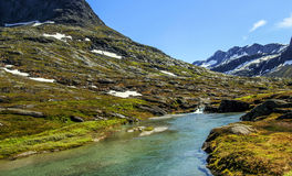 Norwegian mountains stock photography