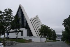 The Norwegians. Tromsø. The Arctic Cathedral Royalty Free Stock Image