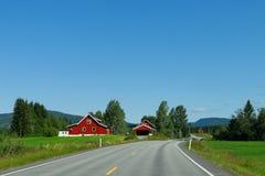 Norwegische Bauernhöfe Stockfotos