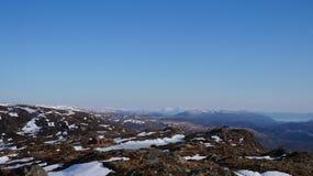 Norwegische Bergspitzen-Kabinen Lizenzfreie Stockfotos