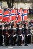 Norwegische Ehrenabdeckung an der Militärparade Lizenzfreie Stockfotografie