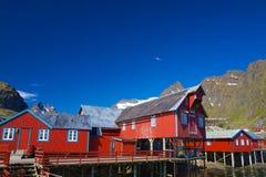 Norwegische Fischenfabrik lizenzfreie stockfotos