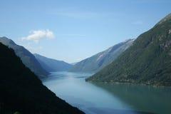 Norwegische Fjorde Stockbild