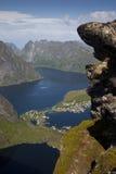 Norwegische Fjorde - Lofoten Stockbild