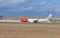Norwegische Fluglinien-Abreise lizenzfreies stockfoto
