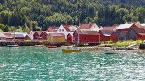 Norwegische Häuser Stockfoto