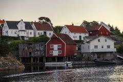 Norwegische Häuser lizenzfreie stockbilder