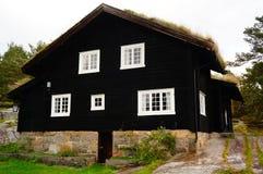 Norwegische Häuser, Norwegen Lizenzfreies Stockbild