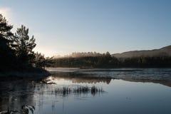 Norwegische Herbstlandschaft Stockfotografie