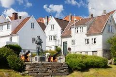Norwegische Häuser Stockbild