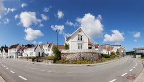 Norwegische Häuser Lizenzfreies Stockbild