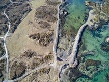Norwegische Inselgruppenvogelperspektive, Brummenansicht Lizenzfreies Stockbild