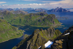 Norwegische Küste stockbild