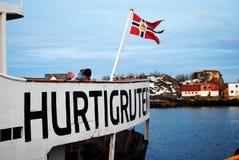 Norwegische Küsten drücken aus Stockfoto