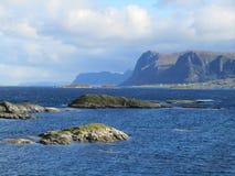 Norwegische Küstenlinie stockbild