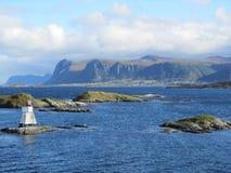 Norwegische Küstenlinie stockfoto