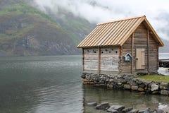 Norwegische Kabine Stockfotografie