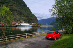 Norwegische Landschaft lizenzfreies stockbild