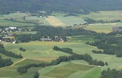 Norwegische landwirtschaftliche Landschaft lizenzfreies stockfoto