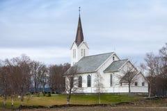 Norwegische lutherische Kirche Stockfotografie