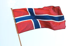 Norwegische Markierungsfahne stockfotografie