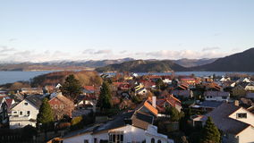 Norwegische Stadt lizenzfreies stockfoto