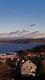Norwegische Stadt stockfotos