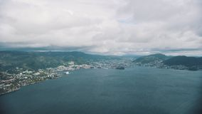 Norwegische Stadt Bergen stock video footage