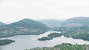 Norwegische Stadt Bergen stock footage
