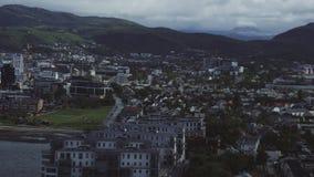 Norwegische Stadt Bodo stock footage