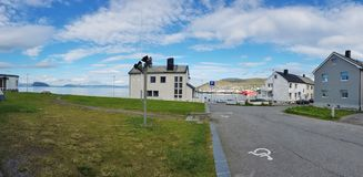 Norwegische Stadt Hammerfest lizenzfreies stockfoto