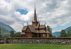Norwegische traditionelle christliche Kirche genannt Kyrka Lizenzfreie Stockfotos