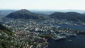 Norwegische Weststadt Bergen stock footage